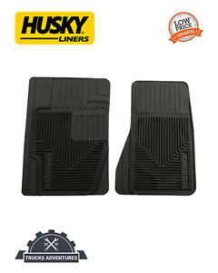 Husky Liners 51121 Heavy Duty Canyon Fits Molded Black Rubber Front Floor Mat