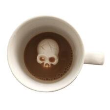 Hidden Surprise Skull Mug White Surprise Attack Coffee Tea Hot Chocolate Cup Gag