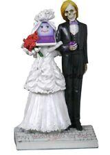 "8"" Till Death (Or Upgrade) Do Us Part Statue Cake Topper Skull Skeleton Marriage"