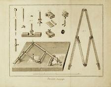 DISEGNO PANTOGRAFO - Pantographe- Pantograph Drawing - Incisione Originale 1700