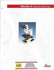 Microscope Brochure - Leica - MicroStar IV  - Laboratory - c1992 (CB164)