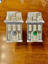 Lot Of 2 Wallflowers BBW Night Light Plug House Holiday Wreath Christmas Snow