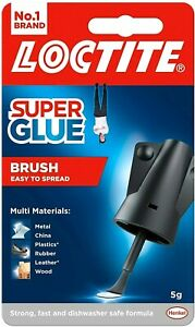 Loctite Super Glue Easy Brush On Adhesive Universal Instant Strong Bond 5g New