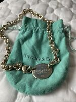 "Vintage Tiffany ""Please Return to Tiffany & Co New York  925"" Silver Necklace"