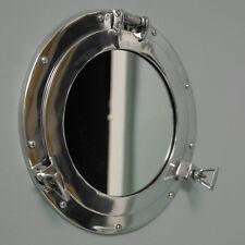Metallo color argento oblò nautico specchio da parete shabby chic vintage bagno