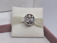 New w/Box Pandora Celestial Wonder Angel Star  2 tone Charm 796363CZ Christmas