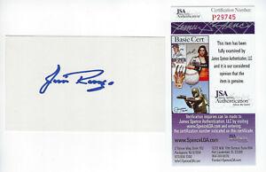 PACKERS Jim Ringo signed 3x5 index card AUTO JSA COA AUTO Green Bay HOFer