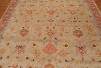 Antique Hand Made Traditional Agra Beige Parsian Oriental Wool Area Rug