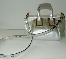 Chloé Ethel Silver Small Satchel Retail $1,495 NEW
