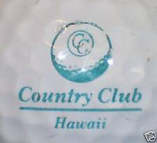 (1) Vintage Hawaii Cc Course Logo Golf Ball Balls A27