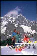 728052 Group Sunbathing Mont Blanc Courmayeur Italy A4 Photo Print