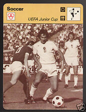 UEFA JUNIOR CUP 1976 USSR vs Hungary Budapest Nepstadion 1978 SPORTSCASTER CARD