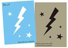 Bolt Star STENCIL Lightening Bolts Stars Magic Storm Team Airbrush Tattoo Art