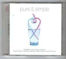 (GZ516) Various Artists, Pure & Simple - 40 Modern Love Songs - 2001 Double CD