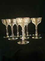 Vintage Champagne Coupes Star Of David Base set of 8