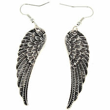 New Tibet Silver Women Retro Style Angel Wings Earrings Drop Dangle Hot Gift