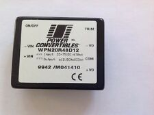 Power Convertibles Dc-Dc Converter Wpn20R48D12 In Lots Of 3 Pieces