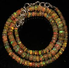 """52 Crts 1 Strands 3 to 6 mm 16""""Beads necklace Ethiopian Welo Fire Opal  AA+++921"""