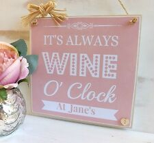 Wine Gin Vodka Any Alcohol It's Always Plaque  Personalised  choice colours