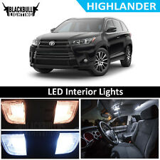 White LED Interior Lights Accessories Package Kit fits 2017-2018 Highlander