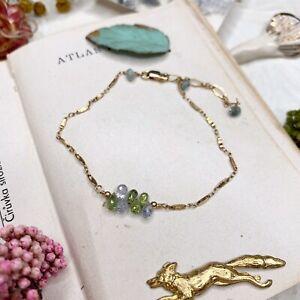 Sapphire 14K Gold Filled Handmade Sundance Garden Bracelet