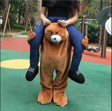 Adult Fancy Dress Carry Me Teddy Bear Mascot Costume Pants Ride On Piggy Back