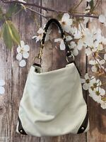 COACH 10616 'Carly' Ivory  Leather  Shoulder Bag
