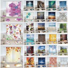 Flower Type Bath Mats Shower Curtains Rugs Toilet Lid Covers Set Bathroom Decor