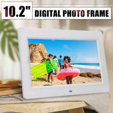 White 10.2'' HD Slim Digital Photo Movies Frame MP4 Player Alarm Clock w/ Remote