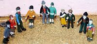 10 standing F17 UNPAINTED OO Scale Langley Models Kit People Figures 1/76 Metal