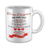 To My Daughter Always Remember I Love You...Love Mum & Dad Novelty Gift Mug