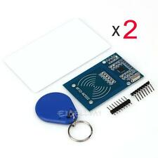 2Set 13.56MHz MFRC-522 RFID Card Reader Writer Module Mifare RC522 SPI Interface
