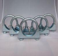 5 Stück Universal Auspuffschellen Rohr-Bügel Schellen  U-Bolt Clamp  M10 Ø 80mm