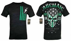 ARCHAIC by AFFLICTION Men's T-Shirt FLAG SMASHER Black USA Flag S-4XL $40 NWT