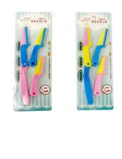 Women Eyebrow Razor Blades Foldable Ladies Hair Trimmer Shaver 3 Attachments