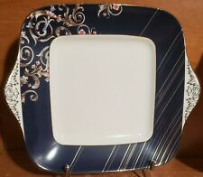 Wedgwood RENAISSANCE BLUE Square Handled Cake plate(s), Bone China, Excellent