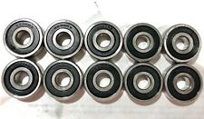 Lot of 10 PCS, 6200-2RS Rubber Sealed Ball Bearing, 10x30x9