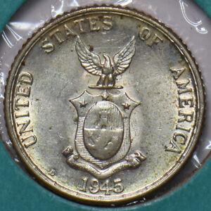Philippines 1945 S 20 Centavos Eagle animal 294877 combine