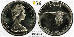 1967 CANADA SILVER DOLLAR PCGS PL66 BU UNC BLAST WHTIE PROOF LIKE HIGH GRADE