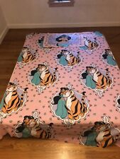 Vintage Disney Jasmine Raja Aladdin Twin Size Flat Sheet  And Pillow Case