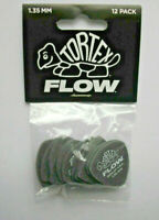 12 Dunlop Tortex FLOW Picks Plektren 1,35 mm Plektrum Hang Bag