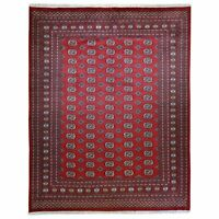 Hand-Knotted Tribal Jaldar Bokhara Design 100% Wool Rug 8.1 X 10.1 Brral-5466