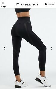Fabletics Ultra High Waisted Trinity Motion365 Lace 7/8 Size 4 XS BNWT RRP £77