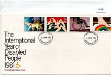 GB - FDC - TOWN CANCEL -048- UNADDRESSED -1981- Year of Disabled - Pmk B'mouth