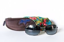 EUC Maui Jim Fleming Beach MJ-321-02D Gunmetal with Gray Lens Sunglasses