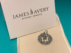 🌸 James Avery 925 Sterling Silver  Holiday Wreath Christmas Charm (C47) New 🌸