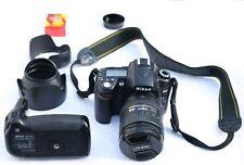 Nikon D90 Camera with 16-85 Lens mm Nikkor Lens Battery Grip - 34 K Shutters