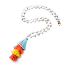 NEW Urban Anthropologie Minkse Rainbow Cloth Necklace