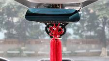 A Set New VIP Car Charm JDM Fusa Red Kiku JP Knot & Black Kin Tsuna Rope