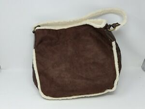 Bath & Body Works Brown Tote Bag Faux Leather Suede